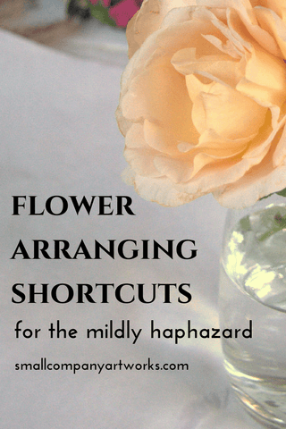 Flower arranging shortcuts from Small Company Artworks