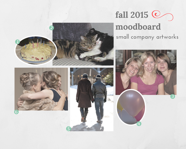 Artist's moodboard for her sculpture studio