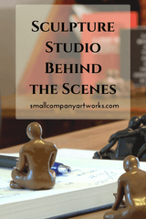 Behind the scenes of my sculpture studio from Small Company Artworks
