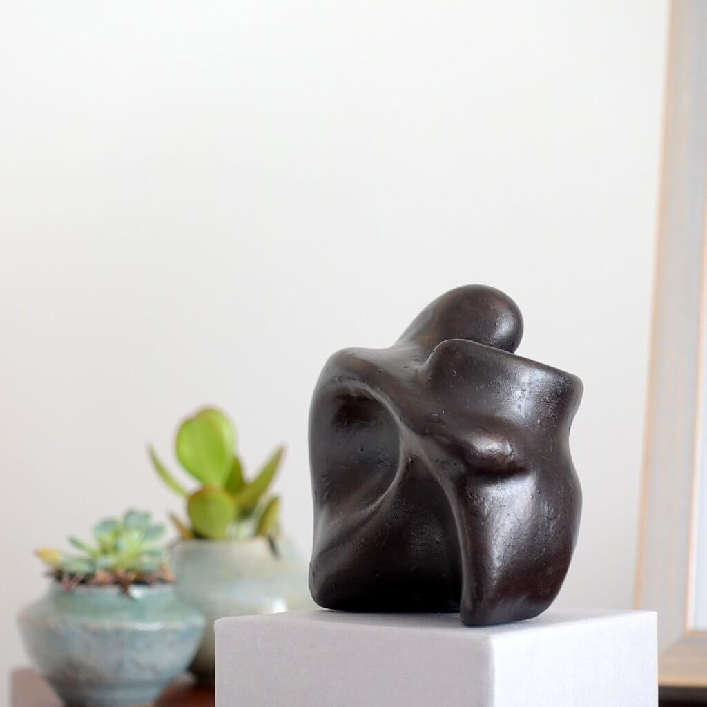 Abstract Seated Thinking Figure Sculpture Gift - Small Company Artworks