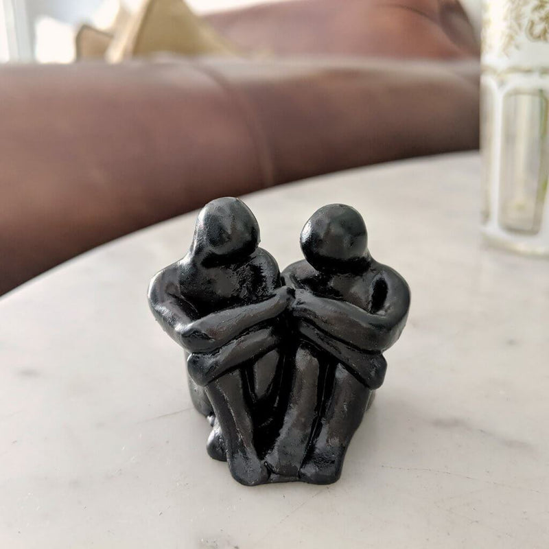 Best friends figure sculpture gift - Small Company Artworks 1