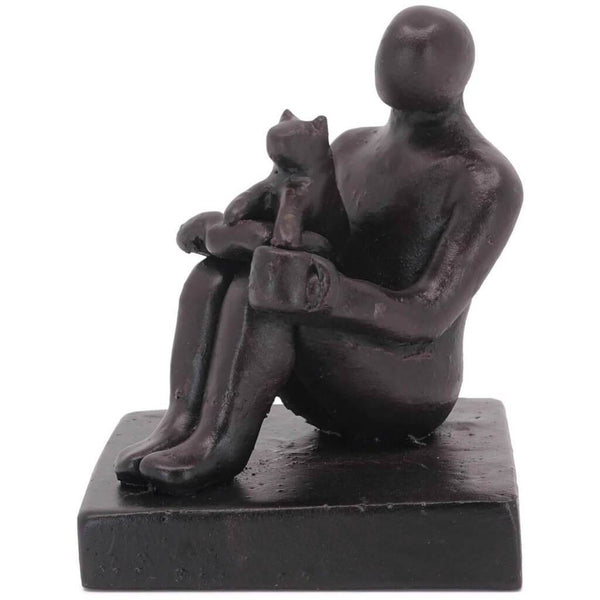 Book Lover and Funny Cat Sculpture Gift - Small Company Artworks