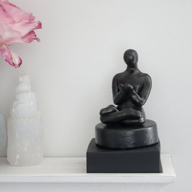 Handmade Meditating Figure Sculpture Gift - Small Company Artworks