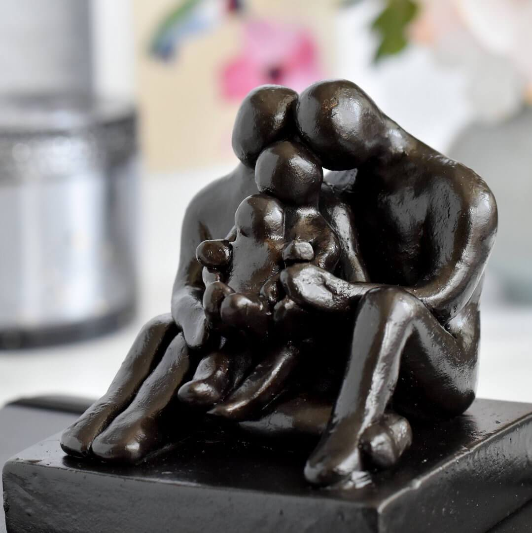 Family of four sculpture gift