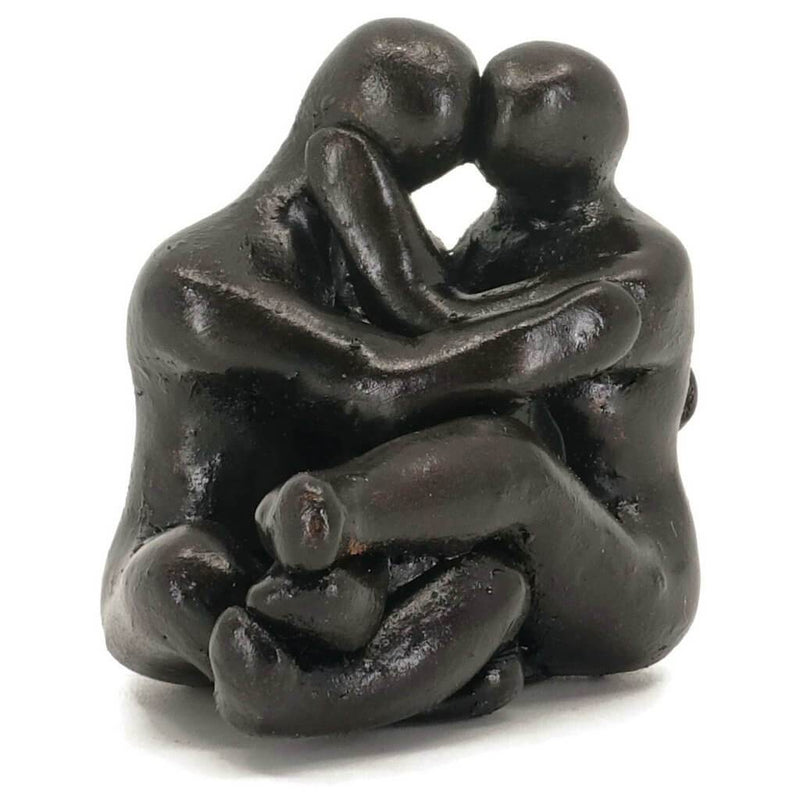Small Company Artworks - Tiny Kissing Figures Sculpture Art Gift