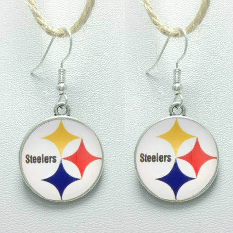 10Pair High Quality Sports Stud/Pendant Charm Earrings Football Pittsburgh Steelers Glass Sports Fashion Earrings