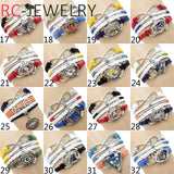 10Pcs/Lot   Tampa Bay Buccaneers Multi-Strand Friendship Infinity Charm Bracelet Sports Football Team Free Shipping!