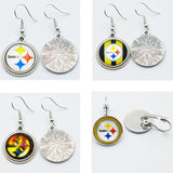 10air Pittsburgh Steelers Football Sports Stud/Drop 16mm Charm Earrings Sports Team Jewelry Glass Earrings For Women Gift