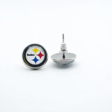 10air Pittsburgh Steelers Football Sports Stud/Drop Charm Earrings Sports Team Jewelry Glass Earrings For Women Gift