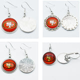 10air San Francisco 49ers Football Sports Stud/Drop 18mm Charm Earrings Sports Team Jewelry Glass Earrings For Women Gift