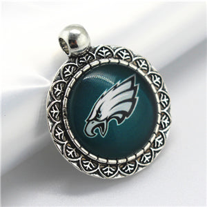 10pcs/lot Philadelphia Eagles USA Pendant Charms Football Sports Hanging Dangle Floating Charms  DIY Necklace Pendant Jewelry