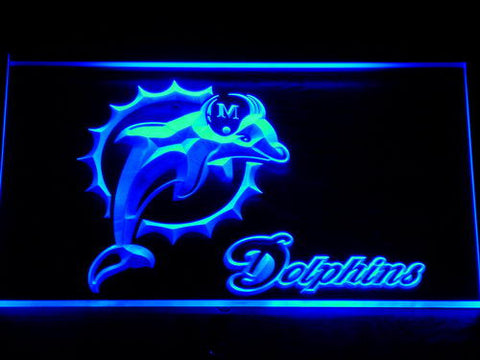 135 Miami Dolphins Badge Bar Beer LED Neon Sign with On/Off Switch 7 Colors to choose