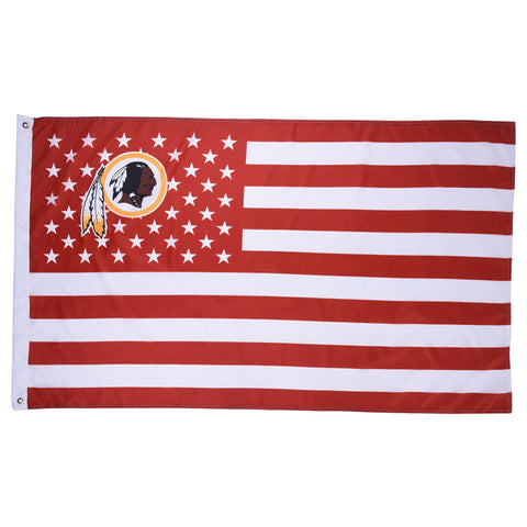 1pc Washington Redskins USA With Stars and Stripes Banner Team Flag American Washington Redskins Flag Banner  90*150cm/3*5 FT