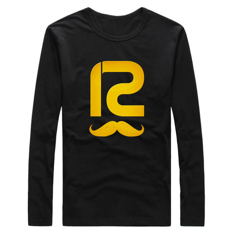 2017 Big Beard #12 Aaron Rodgers Logo Autumn Winter Men T-Shirt Green Bay Long Sleeve T SHIRT Men's Packers Fashion W1030018