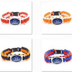 2017 Fashion Bracelet Dallas Football Team Cowboys Charm Bracelet Braided Bracelet Outdoor Sports Bracelet For Women Jewelry
