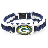2017 Fashion Bracelet Green Bay Packers Team Charm Braided Bracelet Outdoor Sports Bracelet Femme men's Bracelet Gifts