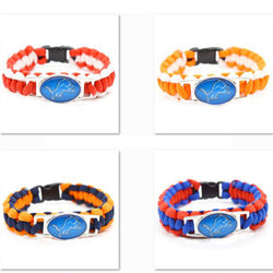 2017 Fashion Bracelet Miami Dolphin Team Charm Bracelet Braided Bracelet Outdoor Sports Bracelet For Women Jewelry
