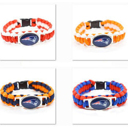 2017 Fashion Bracelet New England Patriots Charm Bracelet Braided Bracelet Outdoor Sports Bracelet For Women Jewelry