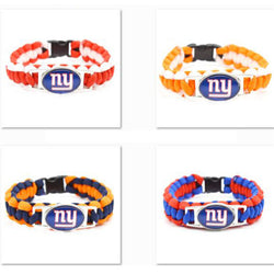2017 Fashion Bracelet New York Giants Charm Braided Bracelet Wide Bangle Femme men's Bracelet Gifts