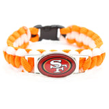 2017 Fashion Bracelet San Francisco 49ers Team Charm Braided Bracelet Outdoor Sports Bracelet Femme men's Bracelet Gifts