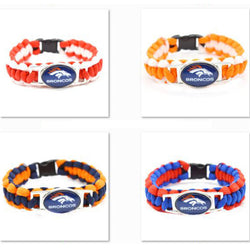 2017 Fashion Bracelet Team Denver Broncos Charm Braided Bracelet Outdoor Sports Bracelet Femme men's Bracelet Gifts