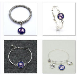 2017 Fashion Football Bracelet New York Giants Charm Bangle Bracelet for Women Men Jewelry Couple Wholesale  SPT015