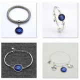 2017 Fashion Football Bracelet Tennessee Titans Charm Bangle Bracelet for Women Men Jewelry Couple Wholesale  SPT016