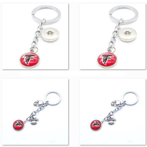 2017 Fashion Football Key Chain Atlanta Falcons Charm Keychain Car Keyring for Women Men Keyrings Gifts Party Wedding Birthday