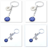 2017 Fashion Football Key Chain Dallas Cowboys Charm Keychain Car Keyring for Women Men Keyrings Gifts Party Wedding Birthday