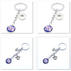 2017 Fashion Football Key Chain New York Giants Charm Keychain Car Keyring for Women Men Keyrings Gifts Party Wedding Birthday