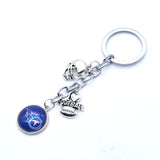 2017 Fashion Football Key Chain Tennessee Titans Charm Keychain Car Keyring for Women Men Keyrings Gifts Party Wedding Birthday