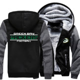 2017 Fashion Green Bay Print Packers Hoodies Super Bowl Team Hooded Sweatshirt Men Jacket Women Hoodie Zipper Thicken Coat