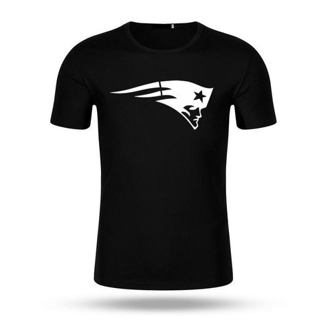 2017 Fashion USA Footballs Team New England Printed Patriots T-shirt Short Sleeve Men T Shirt Hip Hop Tops Tee Brand Clothing
