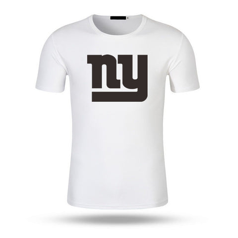 2017 Men Fashion New York Print Giants T Shirt Summer Brand Men T-Shirt USA Footballs Team Casual Tops Tee Modal Shirts