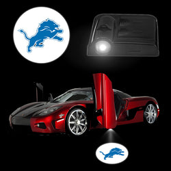 2017 NEW Auto Car Logo Light DETROIT LIONS Wireless Car Door Lamps Sensor Car Styling LED Lighting Smart Accessories 2PCS/Set