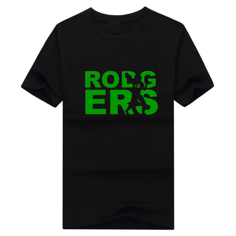 2017 New 100% Cotton green bay Aaron Rodgers shadow 12 T-shirt funny packers fans T Shirt 0116-3