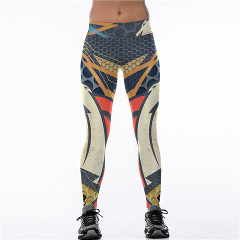 2017 New Denver Broncos Logo Fitness Leggings Elastic Fiber Hiphop Party Cheerleader Rooter Workout Pants Trousers