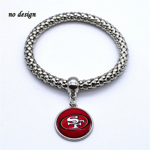 2017 New Football Bracelet San Francisco 49ers Team Charm Bangle Bracelet Couple Jewelry Bracelet Ajustable Wholesale  SPT025
