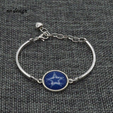 2017 New Football Bracelet Team Dallas Cowboys Charm Bracelet Couple Love Bracelet Jewelry Wholesale  SPT030