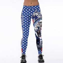 2017 New MVP New England Patriots Tom Brady Fitness Leggings Elastic Hiphop Party Cheerleader Rooter Workout Pants Trousers