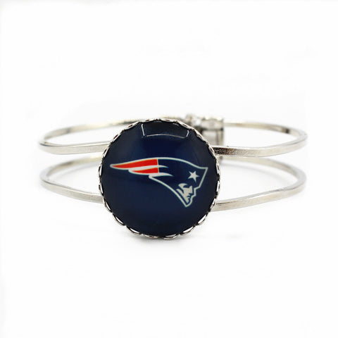 2017 New silver alloy bracelet New England patriots football team charms sports bracelets jewelry for man woman 6pcs/lot
