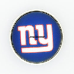 2017 newest Fans Gift She Say He Say Jewelry 18/12 mm Glass Snap Button New York Giants Charms Snap Bracelet for Women men