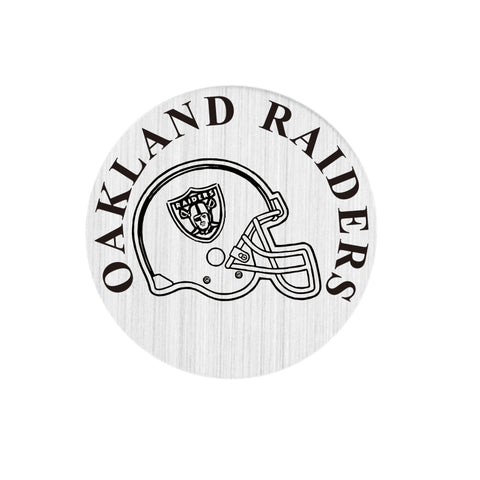 20PCS 22MM Round OAKLAND RAIDERS  Locket Plates For 30mm Window  Locket