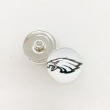 20pcs Football Philadelphia Eagles Team Metal Button Snaps Sports 18MM Snap Button Jewelry Bracelet