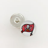 20pcs Football Tampa Bay Buccaneers Sports Team Metal Button Snaps Jewelry For Good Quality Charm Bracelet