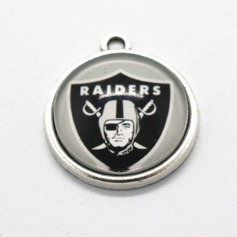 20pcs Oakland Raiders Dangle Charms Jewelry USA Team Hanging Charm Football Sport DIY Bracelet&Bangles Charms