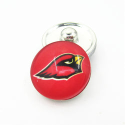20pcs/lot Arizona Cardinals Football Team Snap Button Charms DIY 18mm Football Sports Ginger Snaps Bracelets Necklace Jewelry