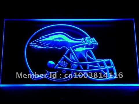 251 Philadelphia Eagles Helmet Bar LED Neon Sign with On/Off Switch 7 Colors 4 Sizes to choose