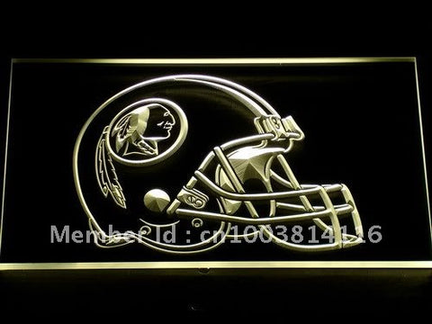 259 Washington Redskins Helmet Bar LED Neon Sign with On/Off Switch 7 Colors 4 Sizes to choose