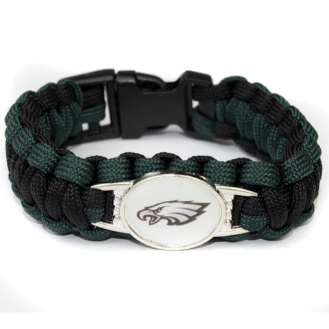 3 Style Philadelphia Eagle Football Team Bracelet Sport Team Umbrella Braided Bracelet Football Fans Gift 10PCS